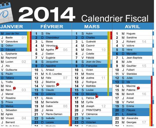 Calendrier fiscal 2014 [PDF]