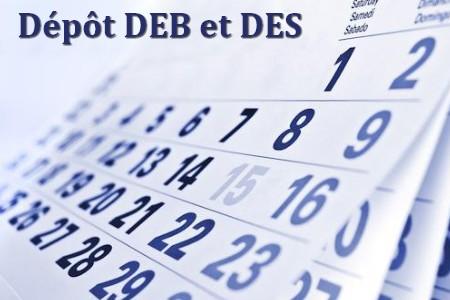 Calendrier 2016 :Déclaration d'échanges de biens (DEB) et déclaration européenne de services (DES)